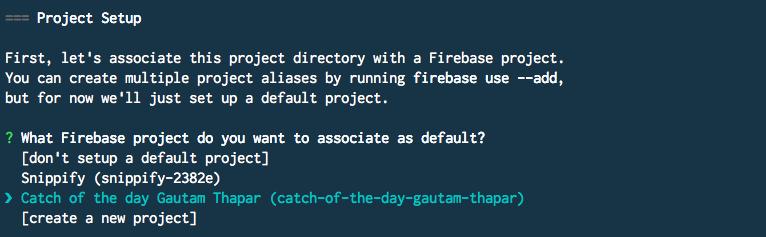 Firebase project setup