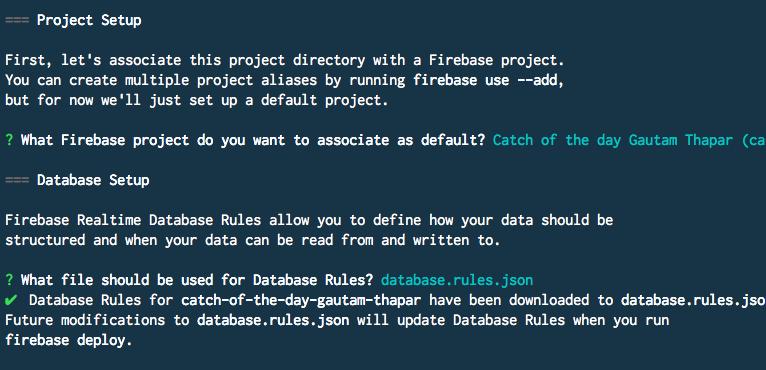 Firebase database rules file