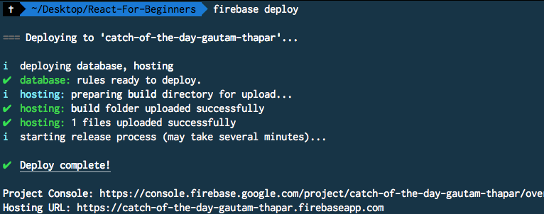 Firebase Deploy